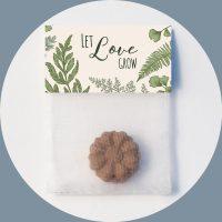 Samenbombe Botany Let Love Grow Gastgeschenk Werbeartikel Grüne Hochzeit
