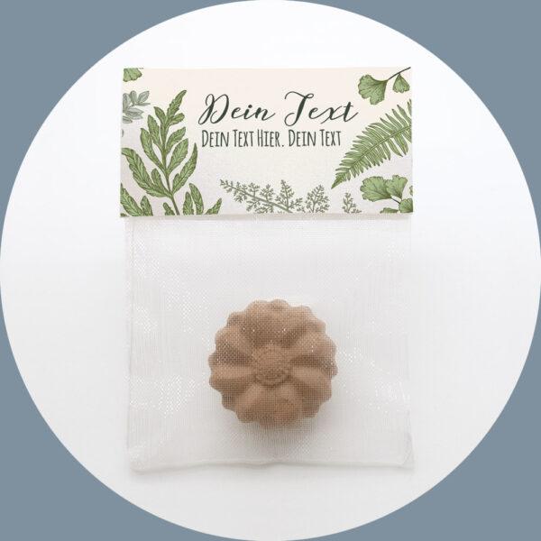 Personalisierte Gastgeschenke Hochzeit Samenbomben Botany give_away_bio_seedball_werbeartikel_gastgeschenk_öko_seeds_botanisch_blätter_deko