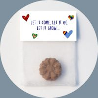 Seedbomb Bunte Herzen Let it come, Let it go, Let it grow... Welt retten Werbeartikel