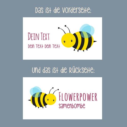 Giveaway Geburtstag Flowerpower Samenbombe Blüte Design Biene